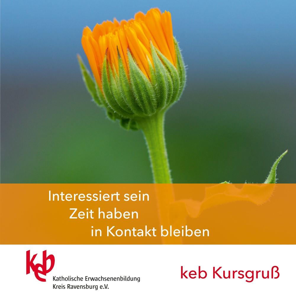 """Bild:Mit Teilnehmern in Kontakt bleiben - keb Ravensburg startet Aktion """"Kursgruß"""""""